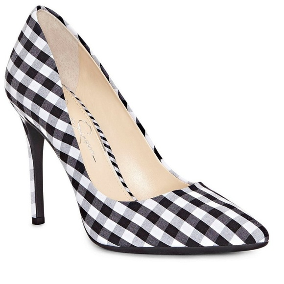cbecc11e8e0 Jessica Simpson Praylee Gingham Pointy Toe Pumps